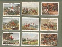 Tobacco cigarette cards Old Hunting Prints 1938 set of 25